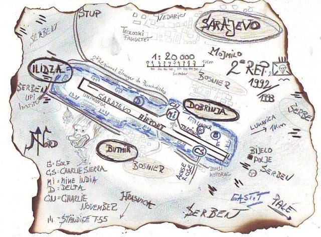 Sarajevo Skizze